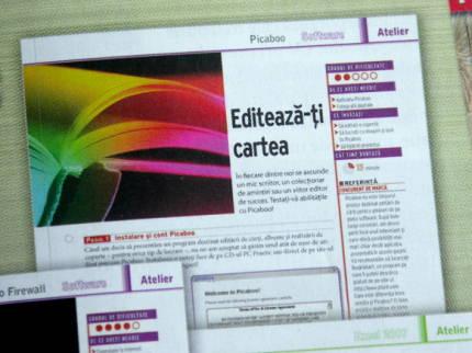 cartea colorata folosita in paginile revistei PC Practic
