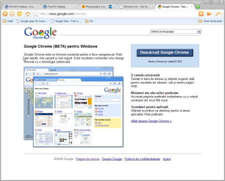 Google Chrome - home site