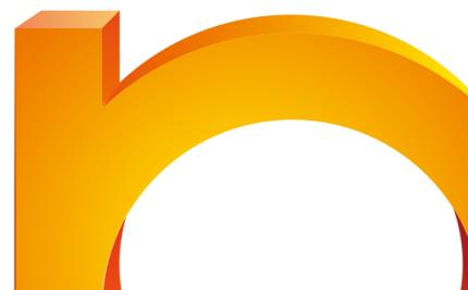 detaliu, logo 3D în CorelDraw