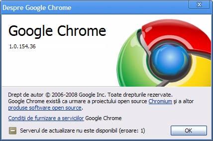 Google Chrome versiunea 1 (portabilă)