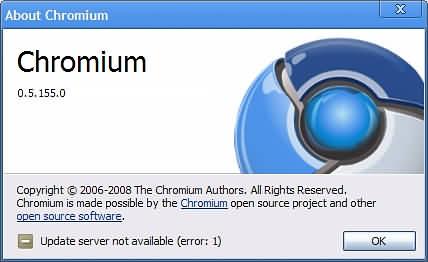 chromium - ultima versiune (de test) acum