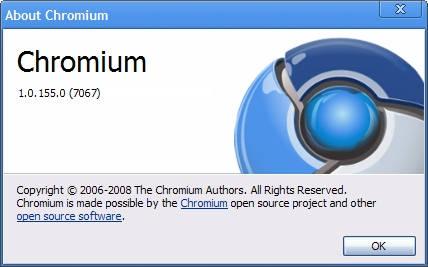 Chromium versiunea 1 (ultima compilare)