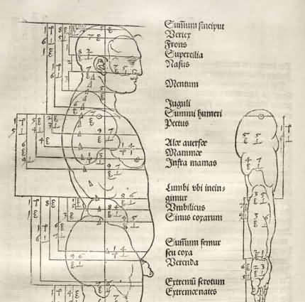 Despre proporţiile figurii umane. Dürer, Albrecht