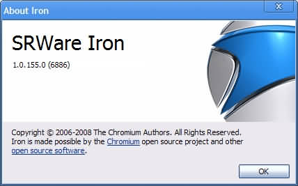 SRWare Iron versiunea 1 (portabilă)