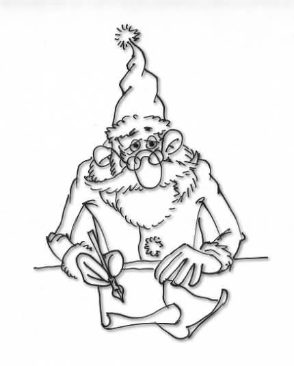 Moşul pregăteşte lista cu cadouri