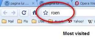"""Scris scurtătura """"roen"""""""