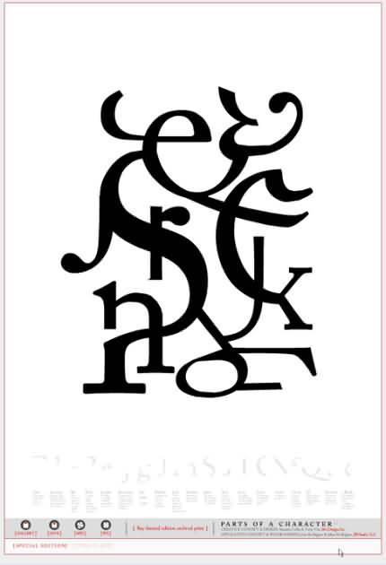 Seek - compoziţie creată pe site-ul Type is Art.