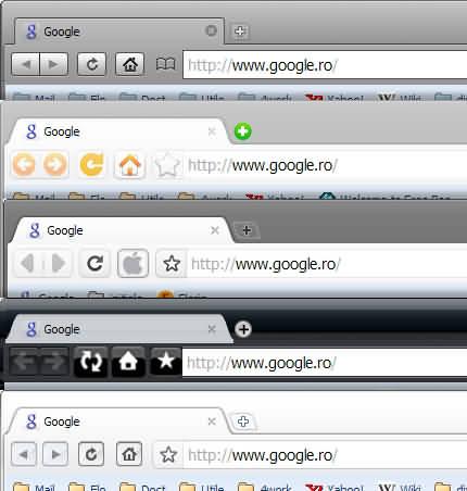 teme sau skin-uri pentru Google Chrome, Chromium sau Iron