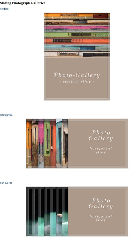 CSS Play - exemplu de galerie foto de tip sliding