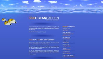 Exemplu de pe csszengarden.com