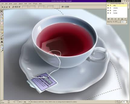 Inkscape - desen vectorial cu Gaussian Blur