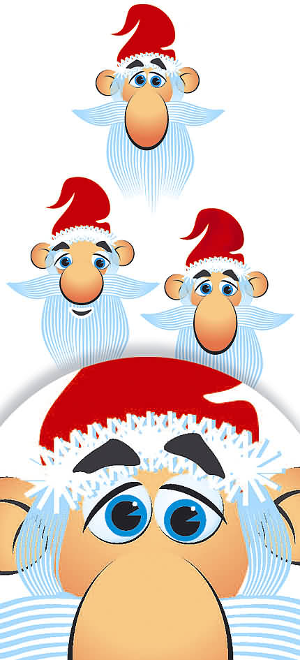 Moş Crăciun - desen vectorial