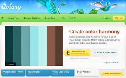 Aviary, Toucan - palete de culori