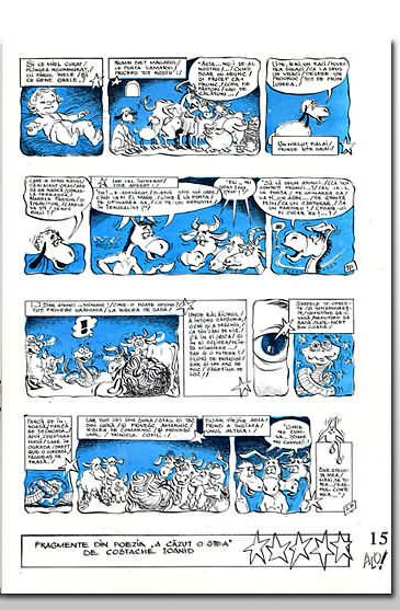 Pagina de dreapta a benzii desenate.
