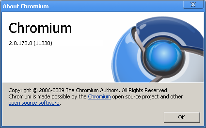 Chromium 2 (build 11330) în teste