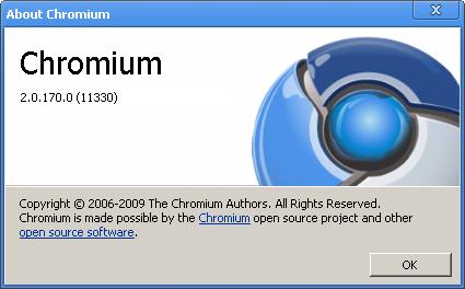 Chromium 2 (build 11330) în teste