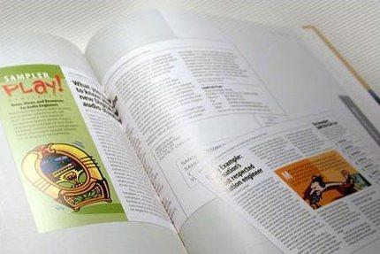 Exemplu, pagină dublă din cartea de mai sus