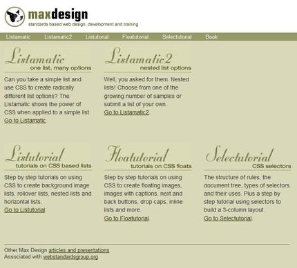 Listamatic (Max Design) util pentru învăţarea CSS-ului şi a listelor.