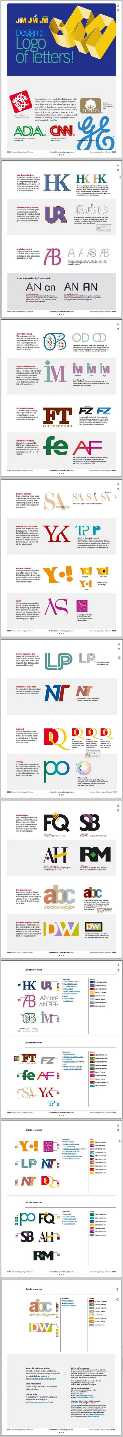 Un logo din litere (PDF gratuit pe Before and After)