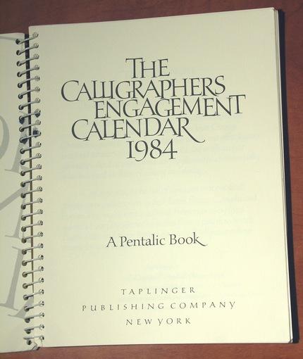 Calendar al caligrafilor profesionişti