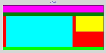 Casete colorate (Max Design) etapă în crearea layout-ului.