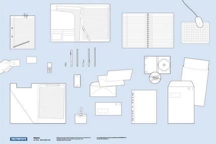 Desene vectoriale pentru prezentarea identităţii