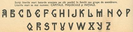 Arhaic românesc sans (mai modern decăt cele cu serife).