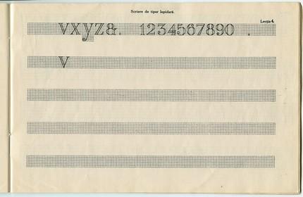 Pagină din caietul de caligrafie