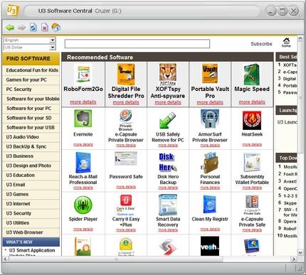 Browserul intern pentru instalarea de programe de pe site-ul lor.