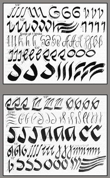 Pensule pentru caligrafie şi alte sfaturi