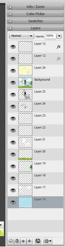 Sumo - desenele sunt create pe layere