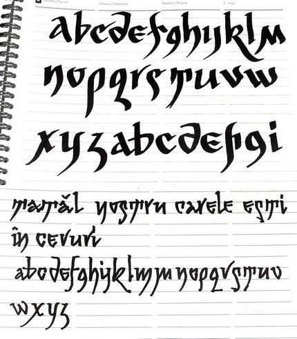 Schiţe pentru minuscule din categoria Arhaicului Românesc.