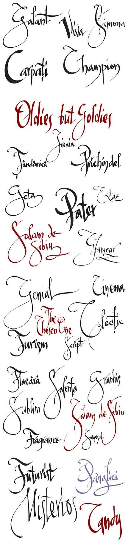 05. Caligrafie în Inkscape. Florin Florea.