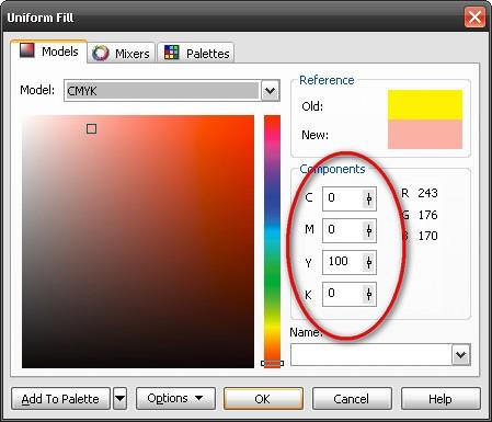 Culorile principale de tipar. Din ele se pot obţine toate celelalte culori şi nuanţe,