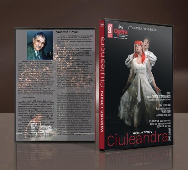 """Coperta pentru DVD-ul spectacolului """"Ciuleandra"""" de Valentin Timaru."""