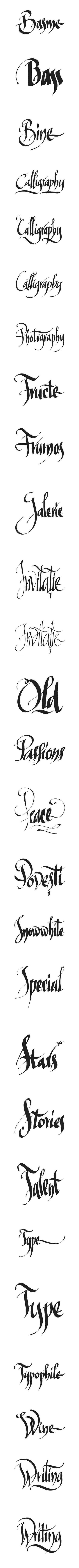 Exerciţii de caligrafie în Inkscape (program vectorial). Florin Florea