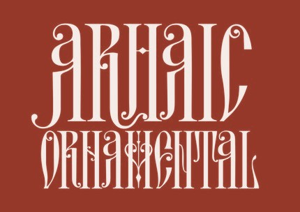 Arhaic Ornamental. Un font nou creat de Florin Florea si bazat pe literele dintr-o copertă creată de Aurelian Petrescu în 1975.