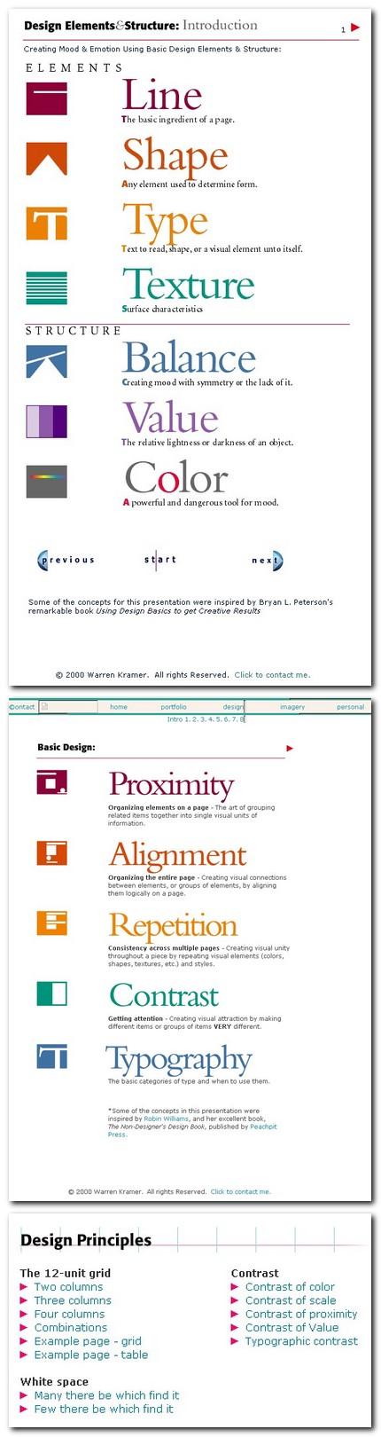 Elemente si principii de design (Warren Kramer)