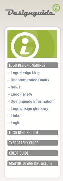 Meniul site-ului (DesignGuide.at)