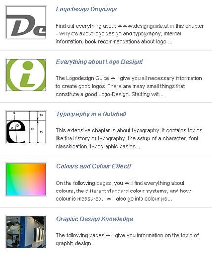 Captură de ecran de pe prima pagină a Ghidului de design
