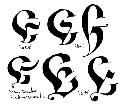 Trasarea literelor nu este soluţia finală ci doar un pas în proces. Literele nu au contururi frumoase.