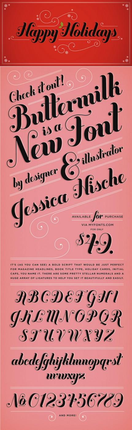 Font - Jessica Hische.