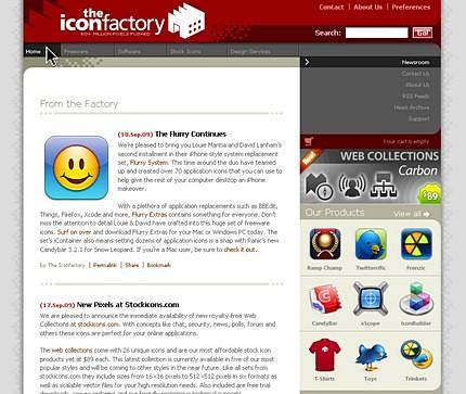 Site-ul celor de la IconFactory.