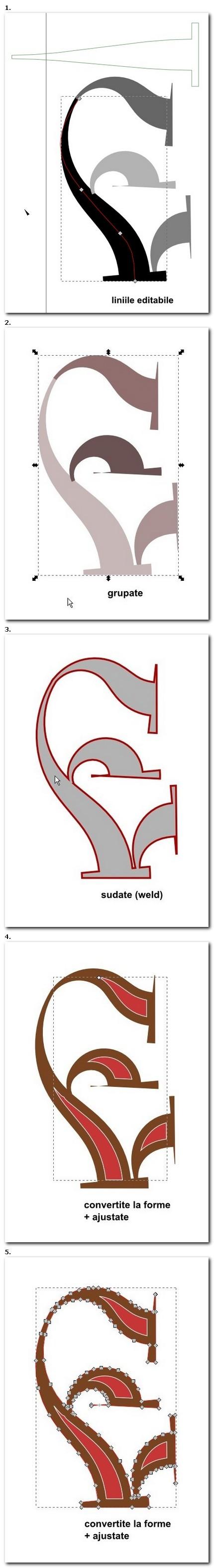 Aplicare la creaţia de literă.