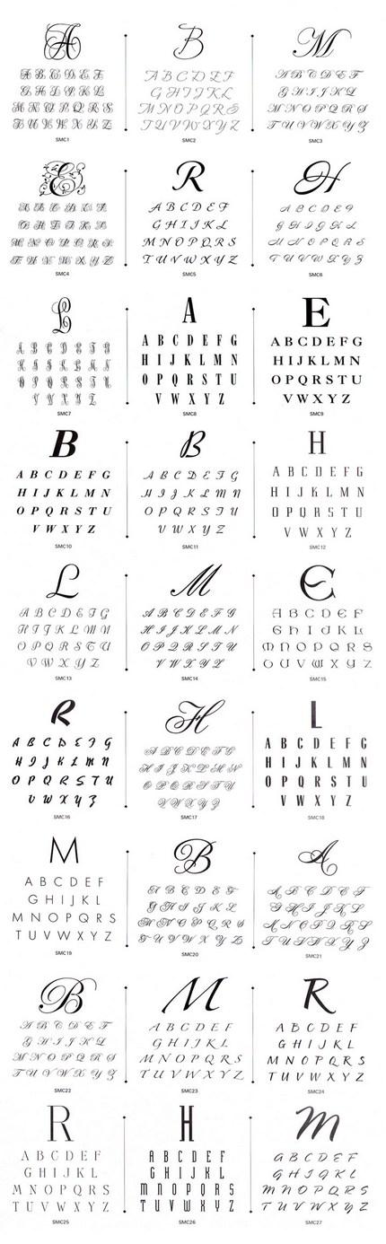 Câteva fonturi pentru monograme