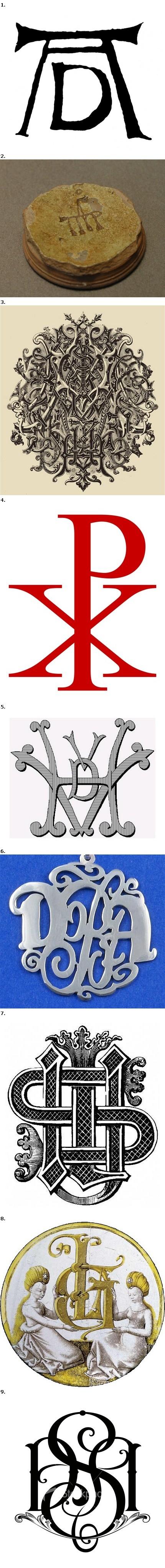 Exemple de monograme găsite pe net.