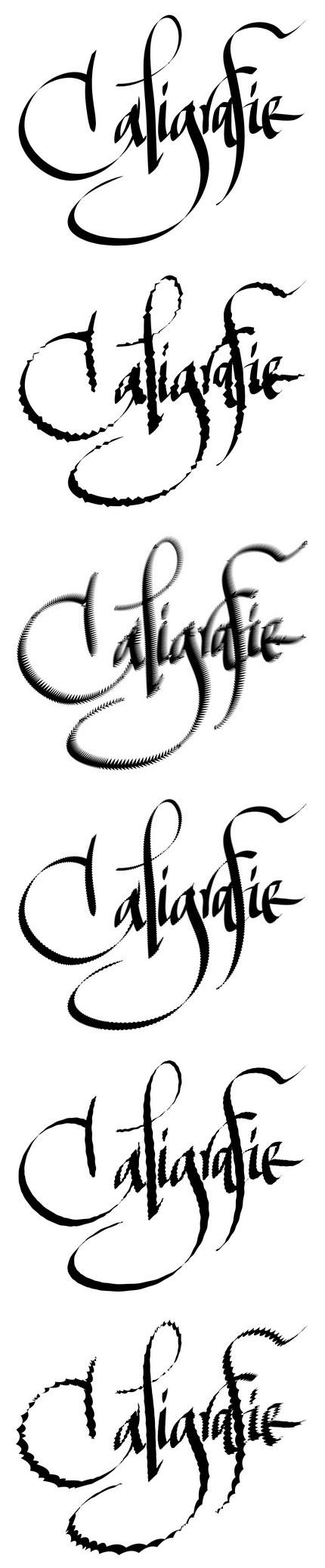 Scrise în Inkscape şi distorsionate în Corel Draw