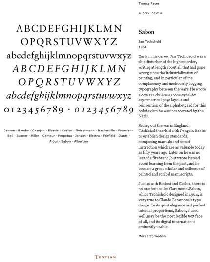 Textism - 20 tipuri de literă