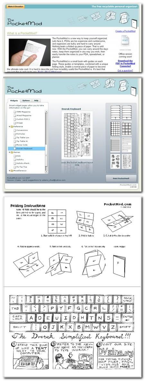 Câteva exemple de pe site-ul PocketMod