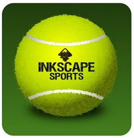 Minge de tenis lucrată în Inkscape (inkscapesportschool.wordpress.com)